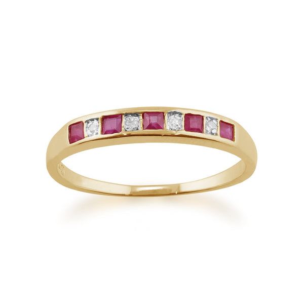 Ruby and Diamond Eternity Ring Image 1