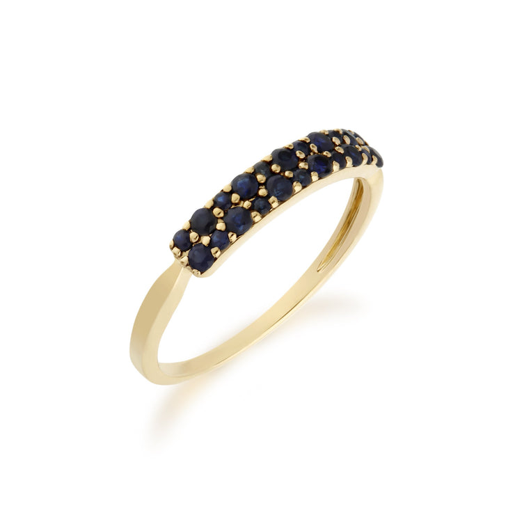 Sapphire Pave Ring Image 2