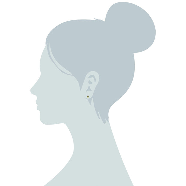 Classic Aquamarine Star Stud Earrings Image 3