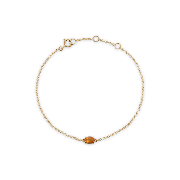 Classic Oval Citrine Single Stone Bracelet Image 2