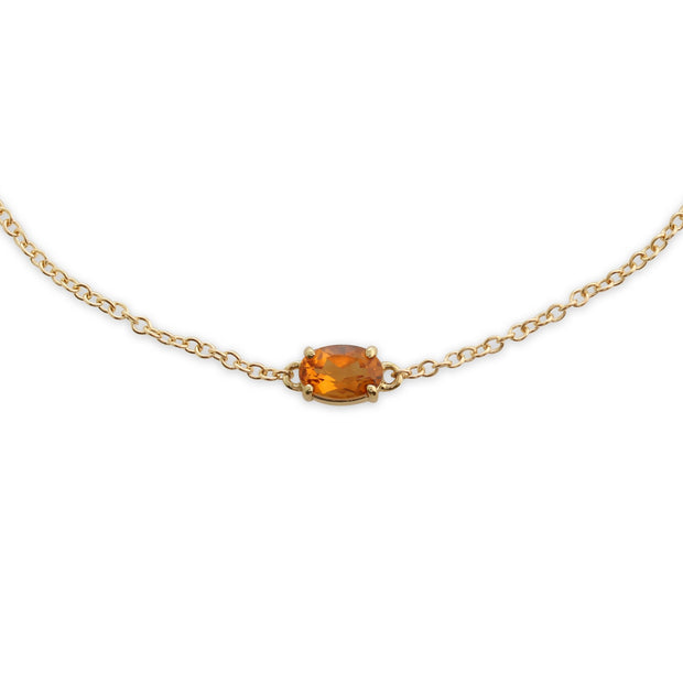Classic Oval Citrine Single Stone Bracelet Image 1