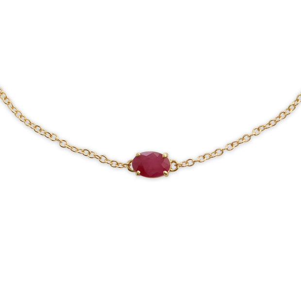 Classic Oval Ruby Single Stone Bracelet Image 1