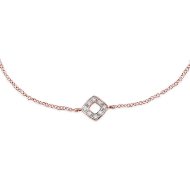 Rose Gold Diamond Bracelet Image 1