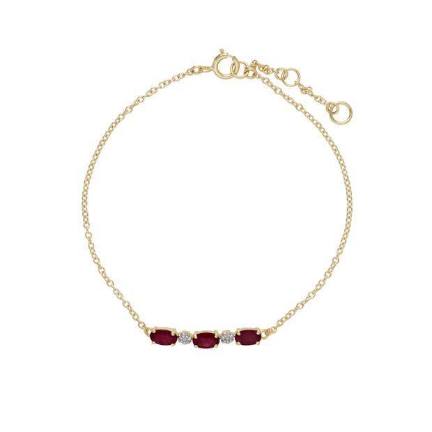 Classic Ruby and Diamond Bracelet Image 2