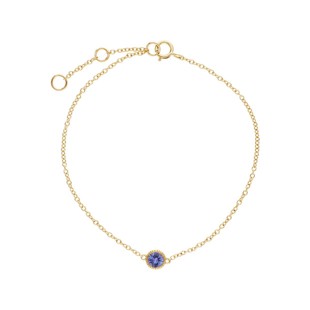 Classic Milgrain Single Tanzanite Bracelet Image  2