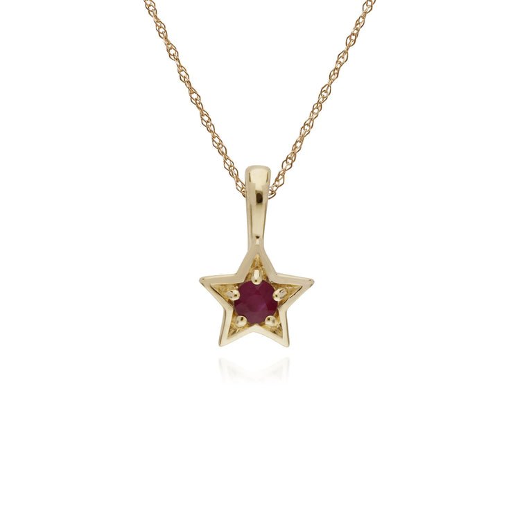Classic Ruby Star Pendant Image 1