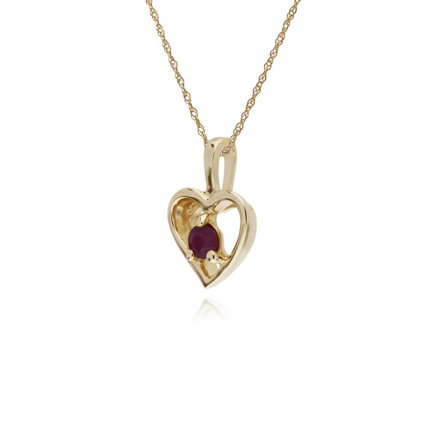 Classic Ruby Heart Pendant Image 2