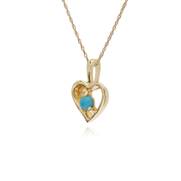 Classic Turquoise Heart Pendant Image 2