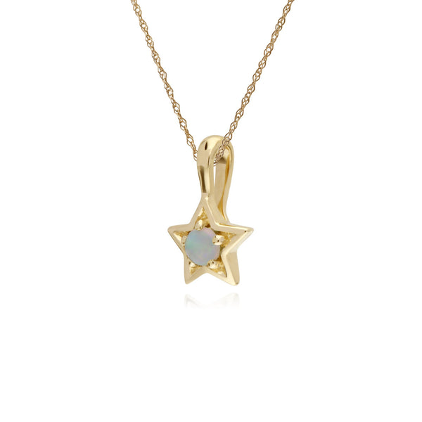 Classic Opal Star Pendant Image 2