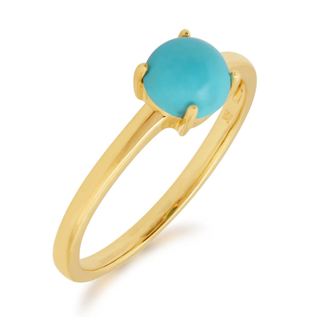 Yellow Gold Turquoise Ring Image 2
