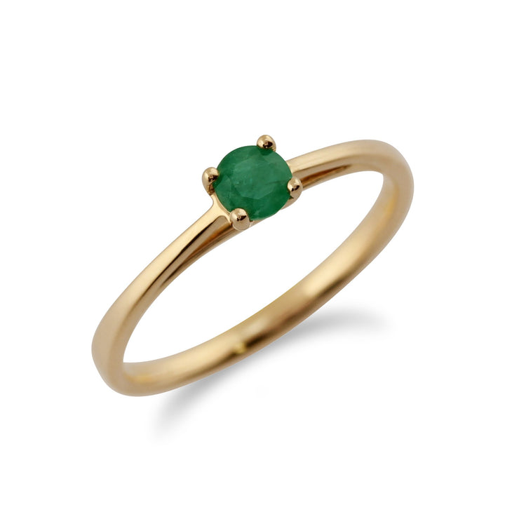 Gold Emerald Ring Image 2