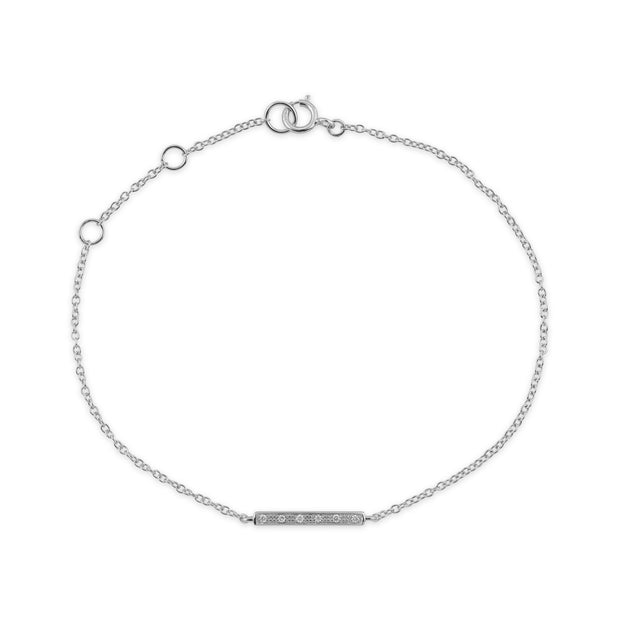 White Gold Diamond Bracelet Image 2
