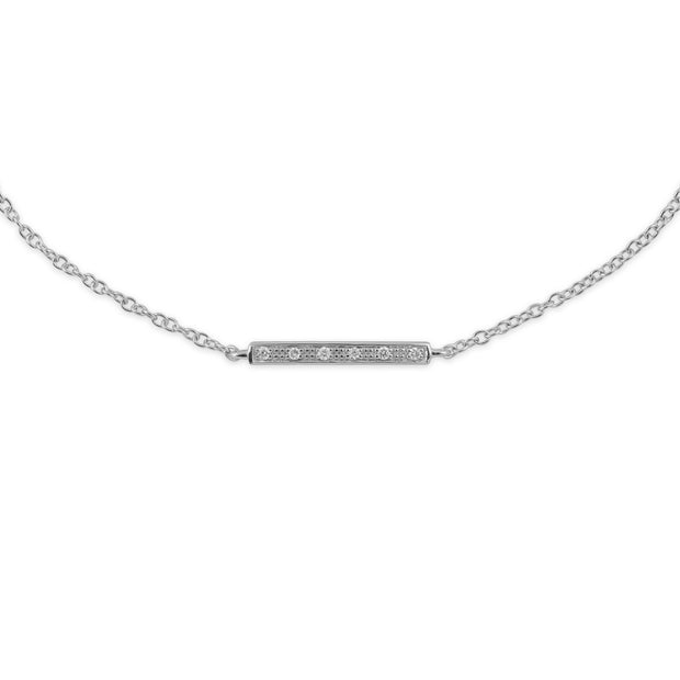 White Gold Diamond Bracelet Image 1