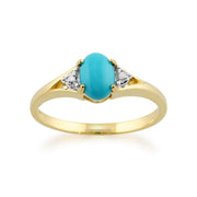 Turquoise and Diamond Ring Image 1