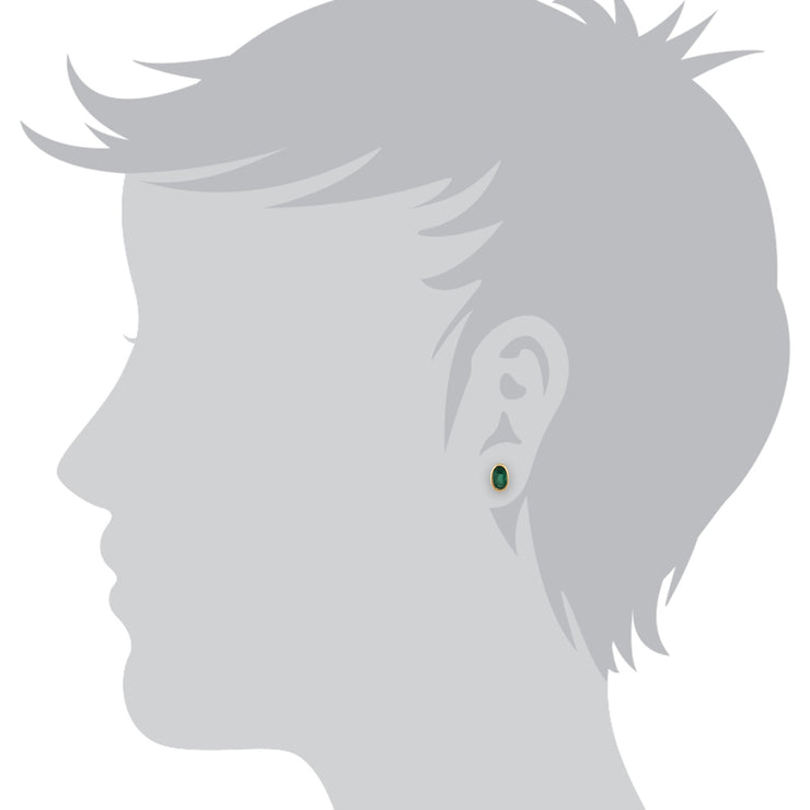 Classic Emerald Stud Earrings Image 2