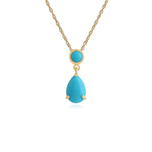 Classic Pear & Round Turquoise Pendant Image 1