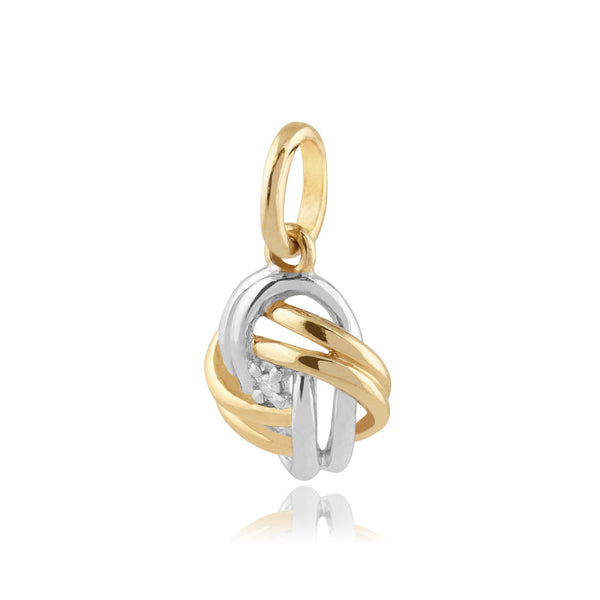 Classic Diamond Love Knot Pendant on Chain Image 2