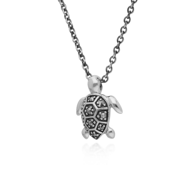 Animal Marcasite Turtle Necklace Image 2