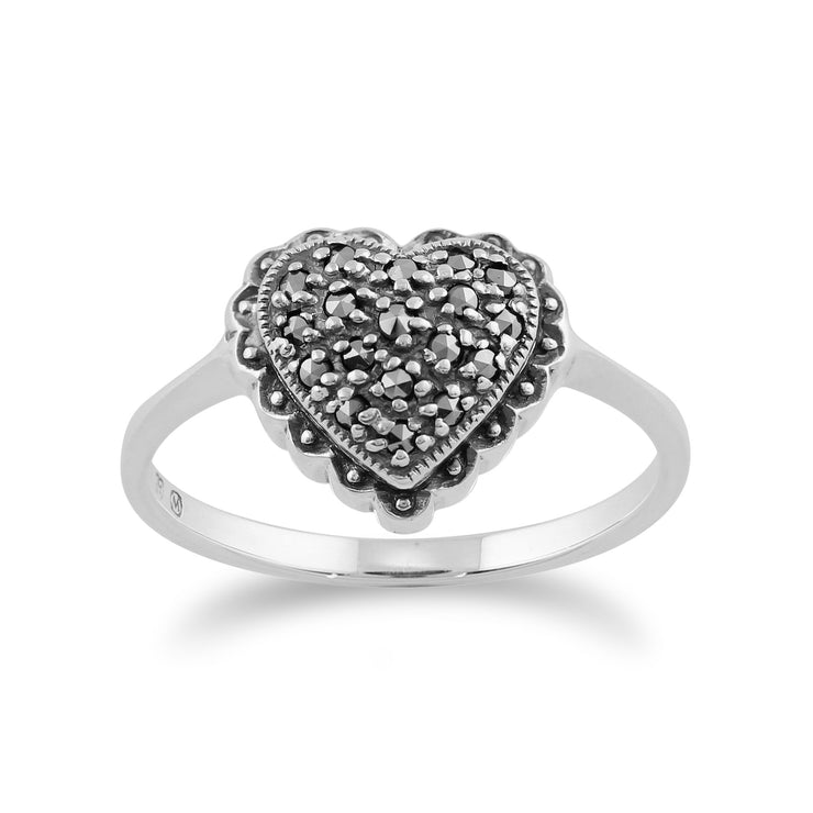 Marcasite Heart Ring Image 1