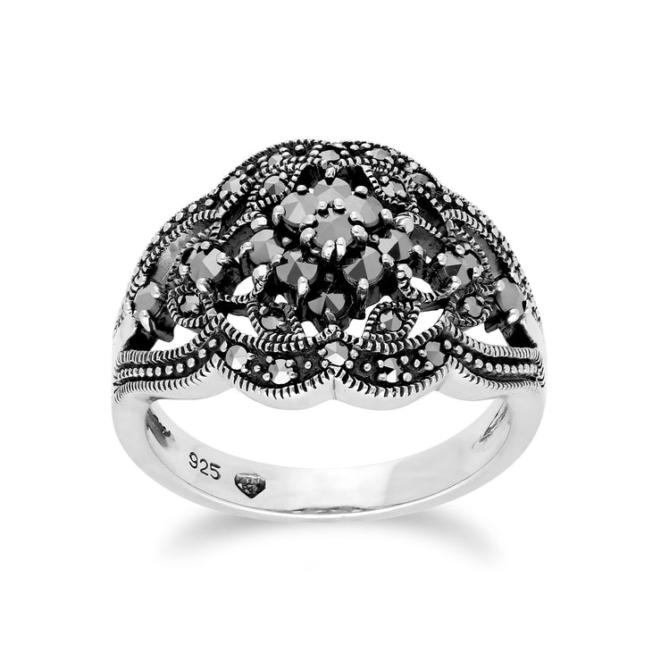 Art Nouveau Style  Cluster Ring Image 1