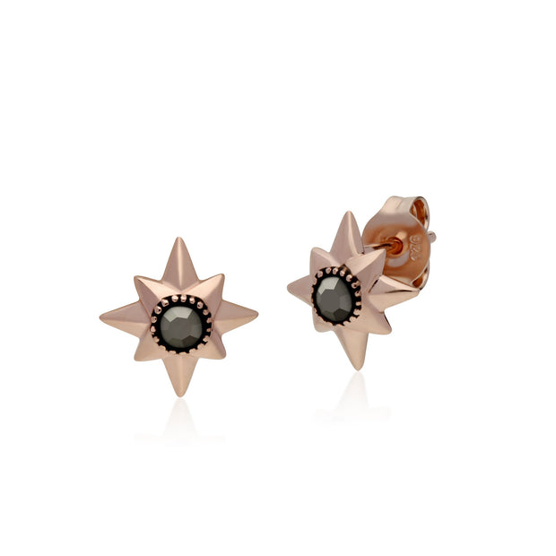 Classic Marcasite Double Star Stud Earrings Image 1