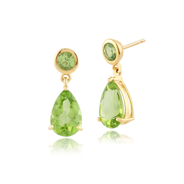 Classic Peridot Drop Earrings Image 1