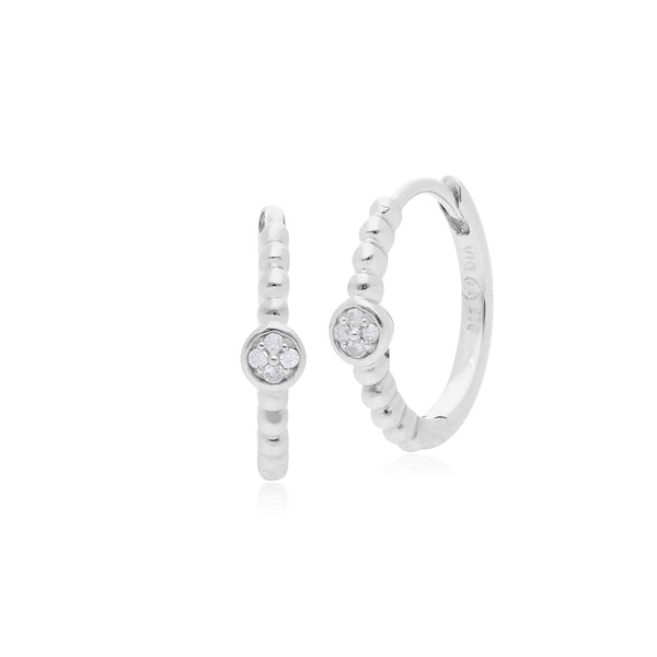 Essential Diamond Hinged Hoop Earrings Image 1