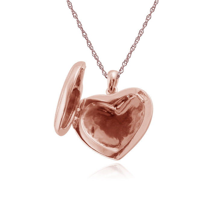 Classic Diamond Rose Gold Plated Heart Locket Image 3