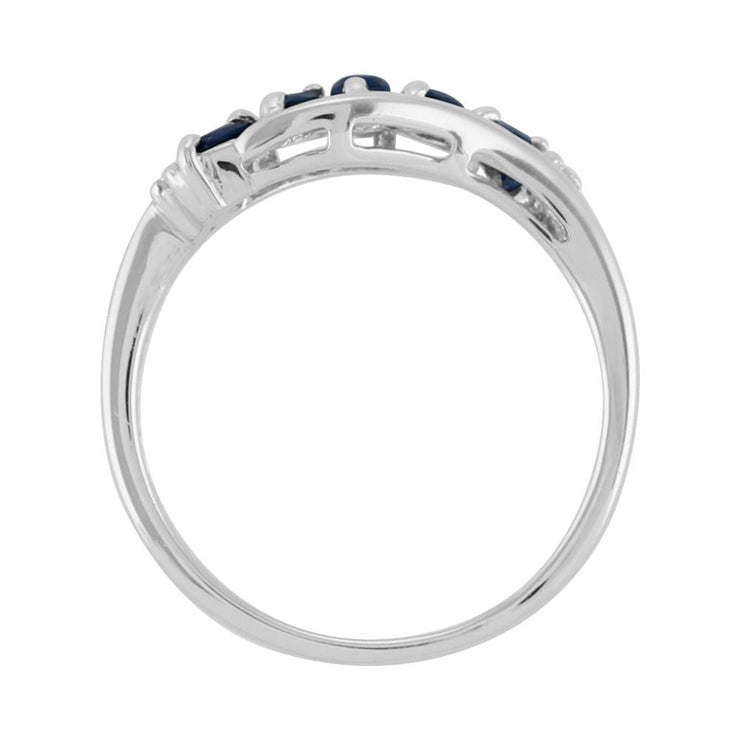 Contemporary Five Stone Sapphire Ring Image 3