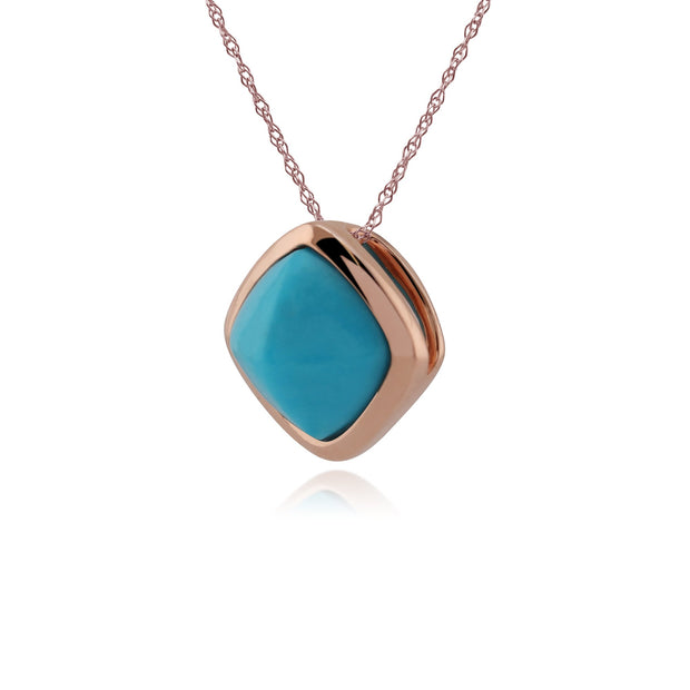 Rose Gold Plated Turquoise Necklace Image 2