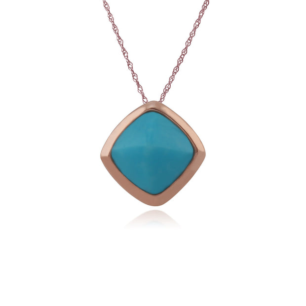 Rose Gold Plated Turquoise Necklace Image 1