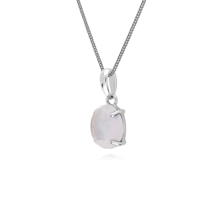 Classic Moonstone Pendant Necklace Image 2