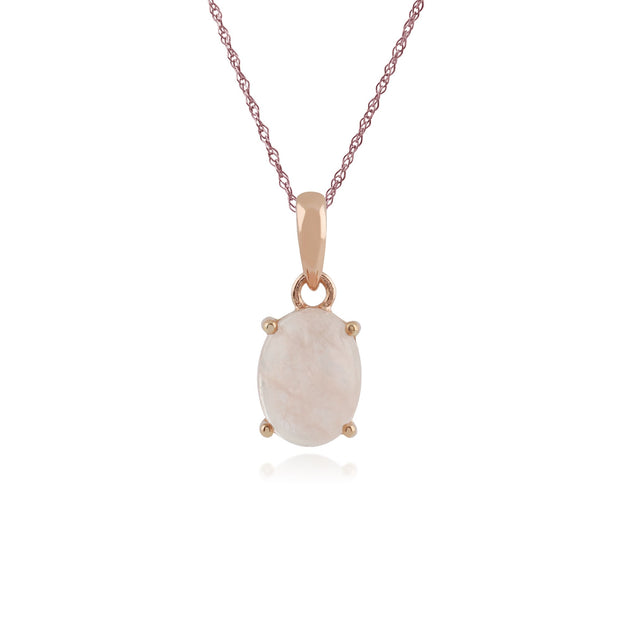 Classic Milky Morganite Stud Earrings & Necklace Set Image 3