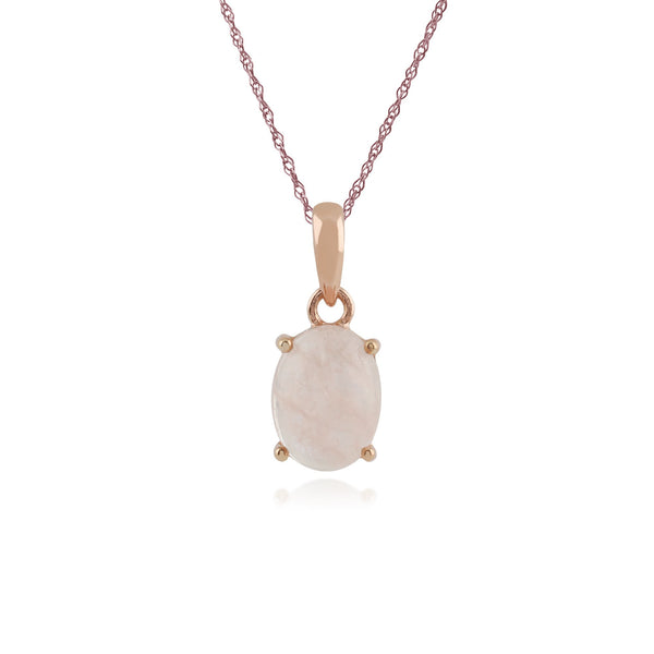 Classic Milky Morganite Single Stone Pendant Image 1