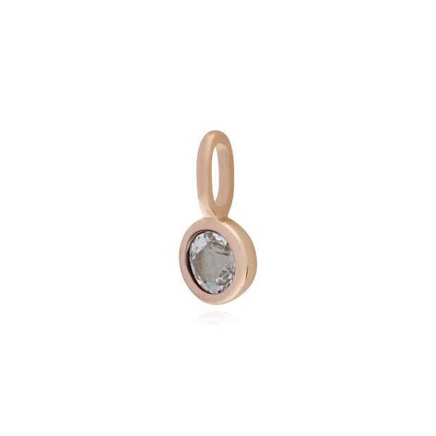 Clear Topaz Rose Gold Charm Image 2
