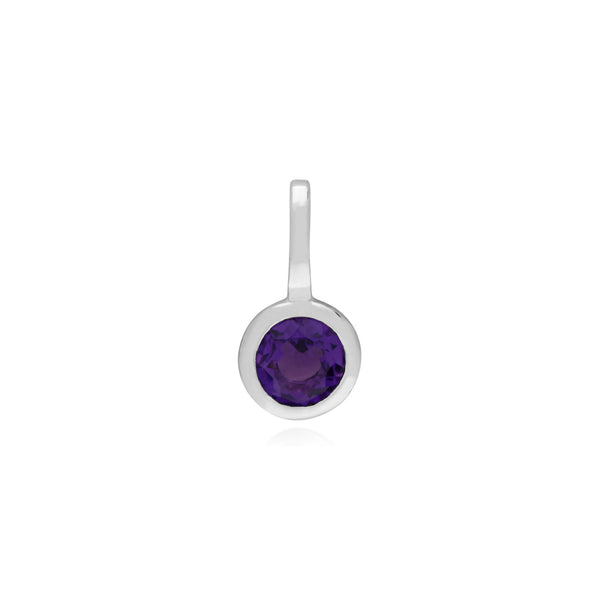 Amethyst Single Stone Charm Image 1