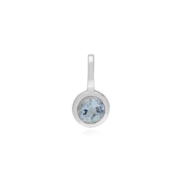Aquamarine Single Stone Charm Image 1