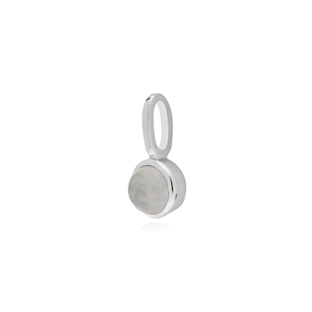Rainbow Moonstone Single Stone Charm Image 2
