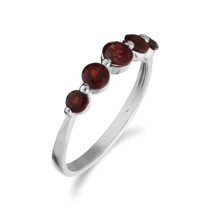 Essential Garnet Five Stone Ring Image 2