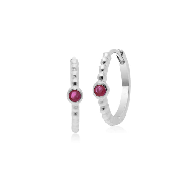 Essential Ruby Hinged Hoop Earrings Image 1