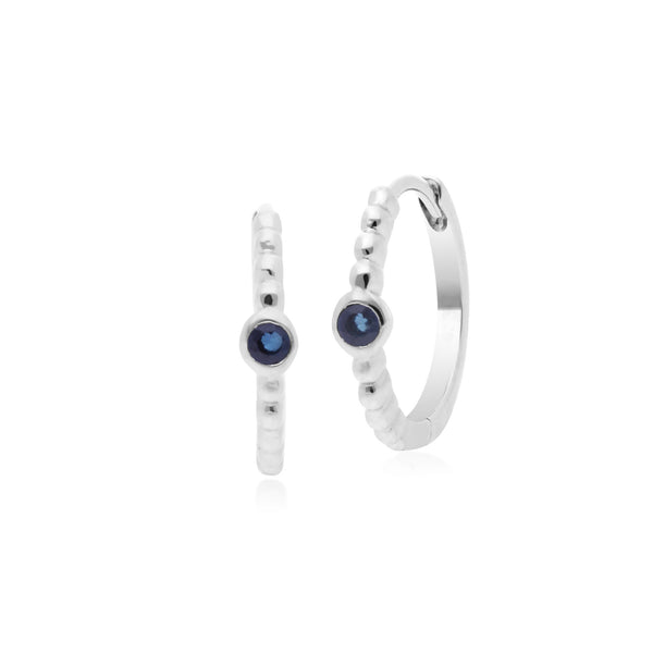 Essential Sapphire Hinged Hoop Earrings Image 1