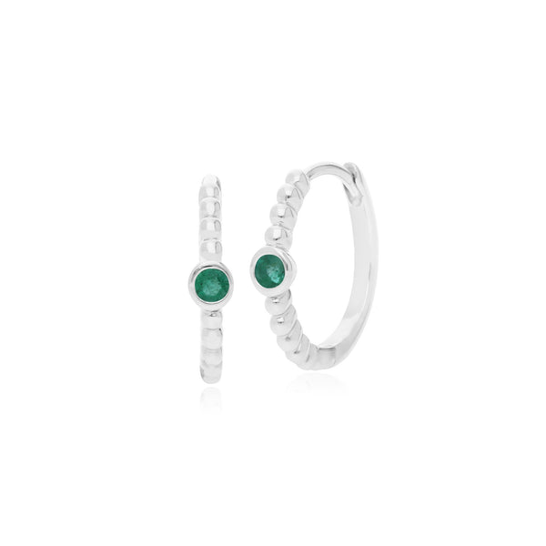 Essential Emerald Hinged Hoop Earrings Image 1