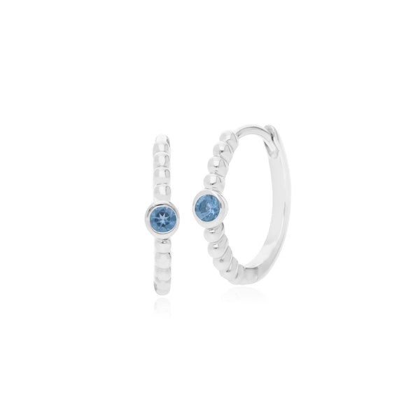 Essential Blue Topaz Hinged Hoop Earrings Image 1