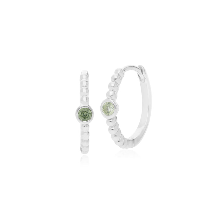 Essential Peridot Hinged Hoop Earrings Image 1