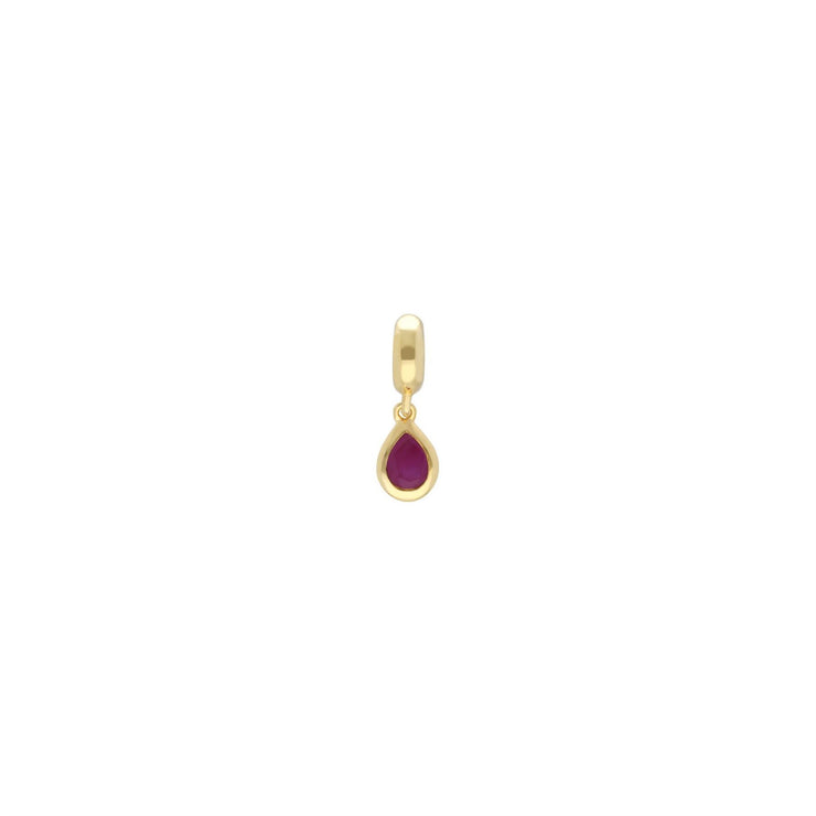 Achievement 'Compatible Passion' Gold Plated Ruby Charm