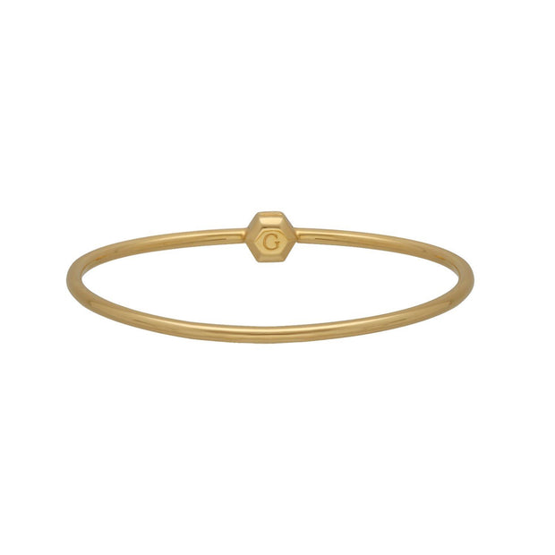 HS Achievement Bangle in Gold Plated Sterling Silver Large