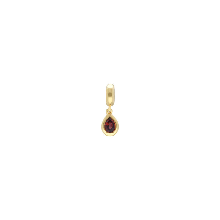 Achievement 'Touch of Love' Gold Plated Garnet Charm
