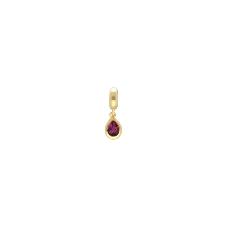 Achievement 'Unshakeable Promise' Gold Plated Tourmaline Charm