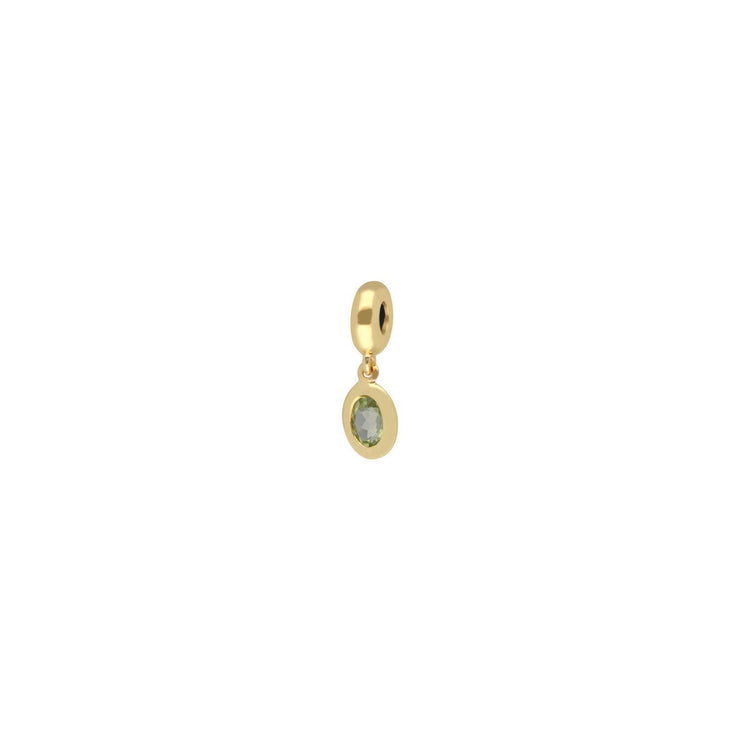 Achievement 'Rock Solid Sisterhood' Gold Plated Peridot Charm