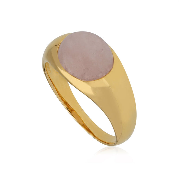Kosmos Morganite Cocktail Ring in Gold Plated Sterling Silver